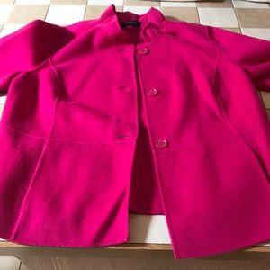 Pink felt-like jacket